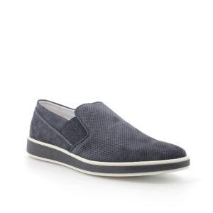 slip on in scamosciato traforato color jeans IGI&CO