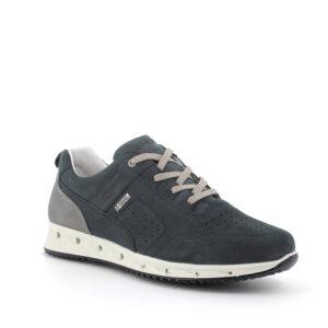 Sneaker in pelle blu con tecnologia gore-tex surround IGI&CO