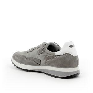 Sneaker in scamomosciato e tessuto grigio scuroIGI&;CO