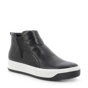 Sneaker in pelle laminata nero e zip laterale\IGI&CO