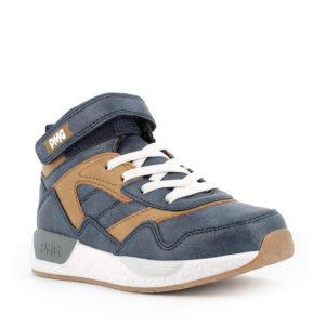 Sneaker in pelle sintetica navy-cuoio- Primigi
