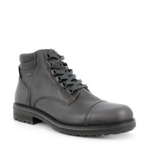 Tronchetto stringato in pelle grigio scuro e fodera gore-tex® performance comfort\IGI&CO