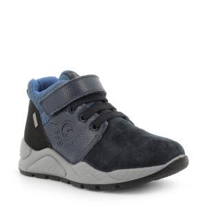 Numerata: 27 – 40 Colore: navy-blu Materiale: pelle/scamosciato Fodera: gore-tex Sottopiede Estraibile: si Chiusura: velcro + laccio elastico Tipologia: sneaker- Primigi